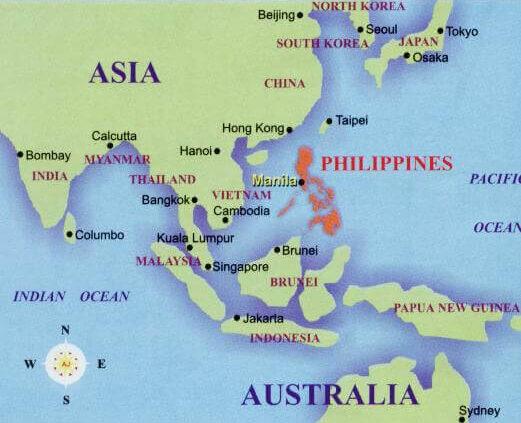 Filipinas, ¿en qué continente está?
