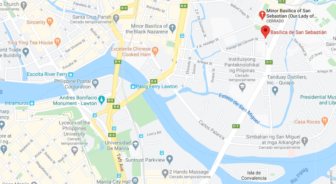 Dónde está Basílica de San Sebastián, Filipinas