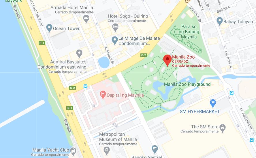 Dónde está Jardín botánico y Zoológico de Manila, Filipinas
