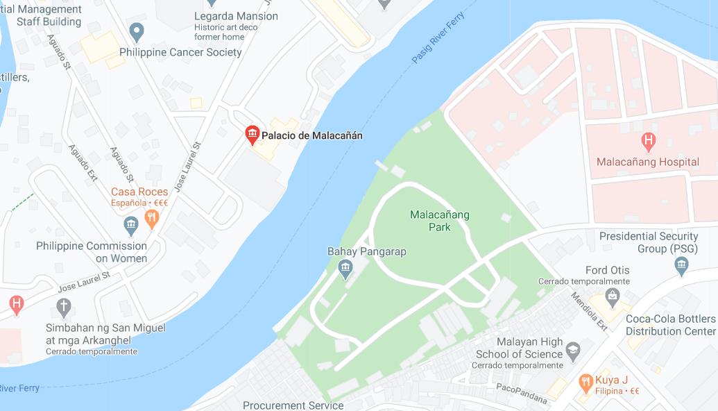 Dónde está Palacio de Malacañán, Filipinas