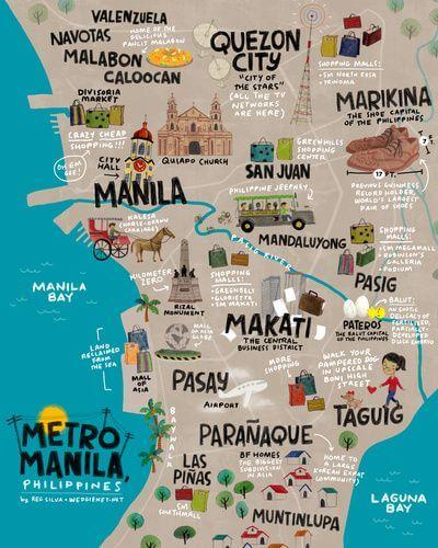 Mapa turístico de Manila