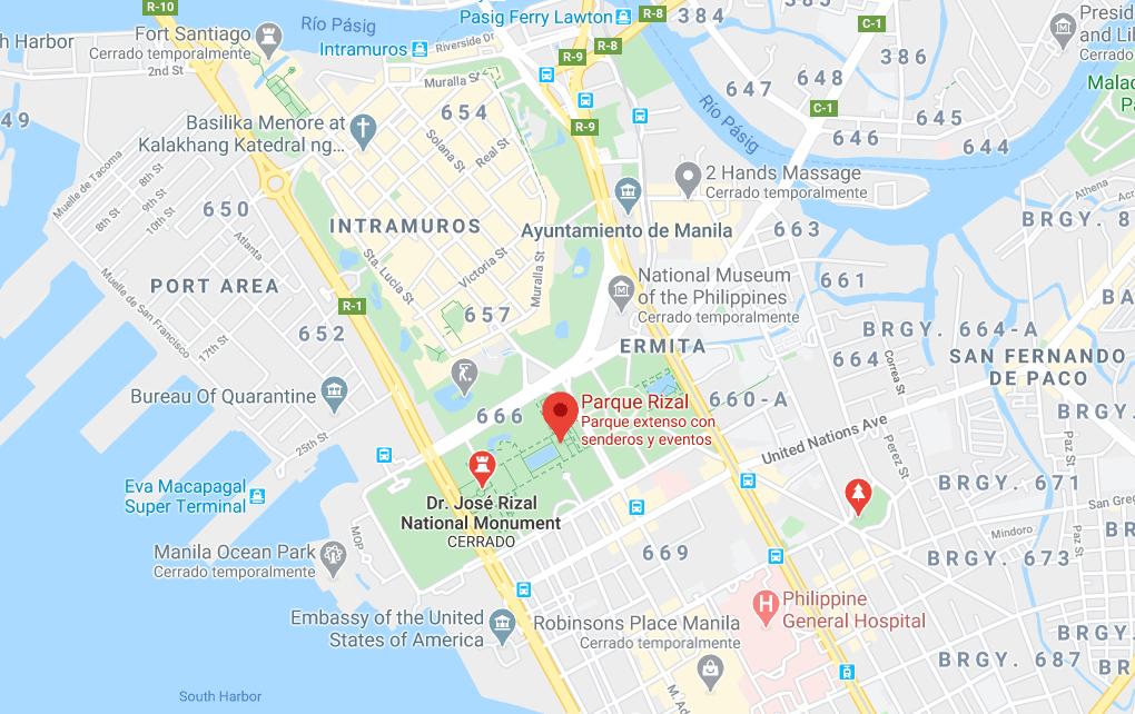 Dónde está Parque Rizal, Filipinas