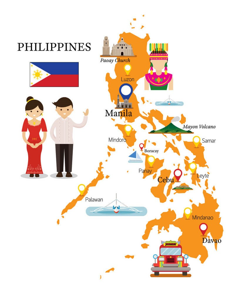 Mapa de Filipinas para niños