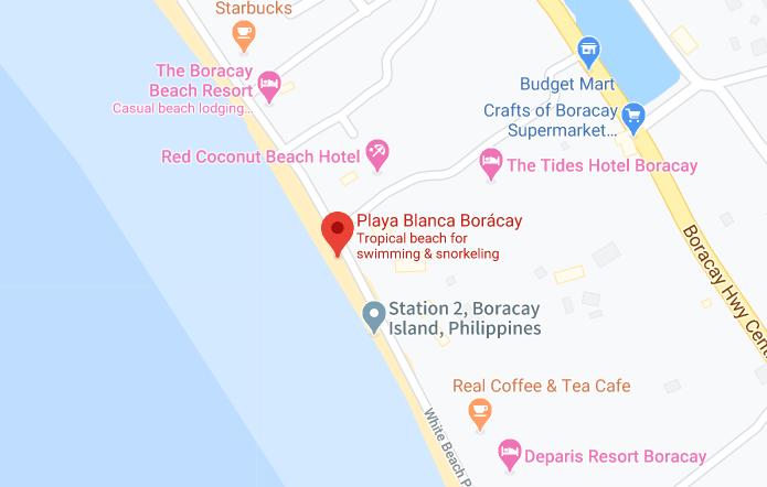Dónde está Playa Blanca Borácay, Filipinas
