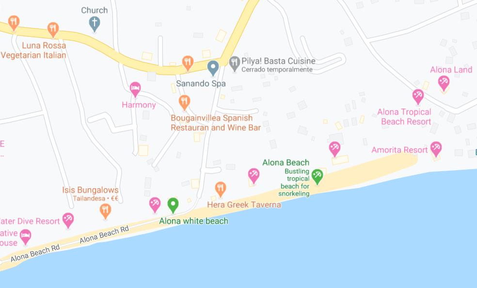 Dónde está Alona Beach, Filipinas