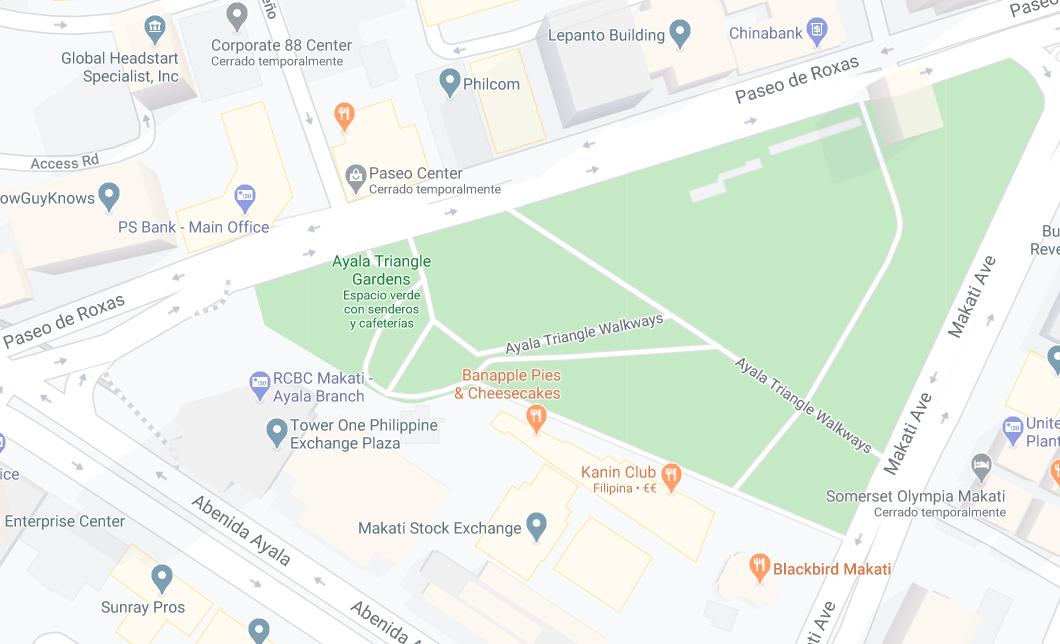 Dónde está Ayala Triangle Gardens, Filipinas