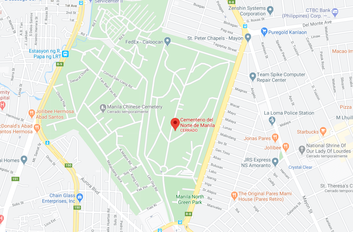 Dónde está Cementerio del Norte de Manila, Filipinas