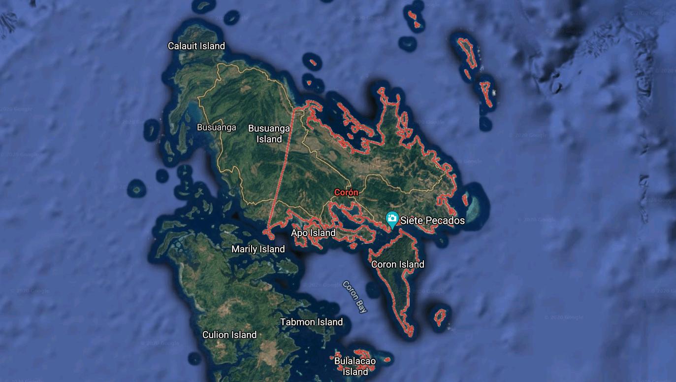 Mapa turístico de Corón