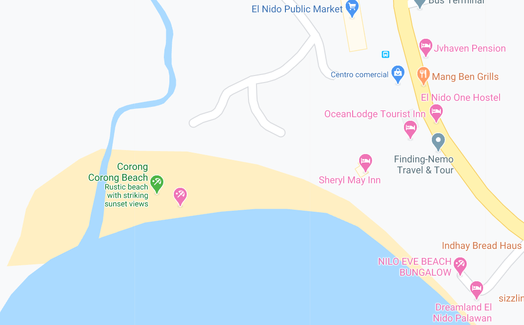Dónde está Corong Corong Beach, Filipinas