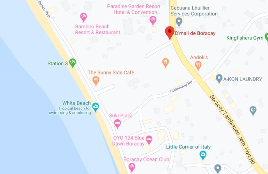 Dónde está D'mall de Boracay, Filipinas