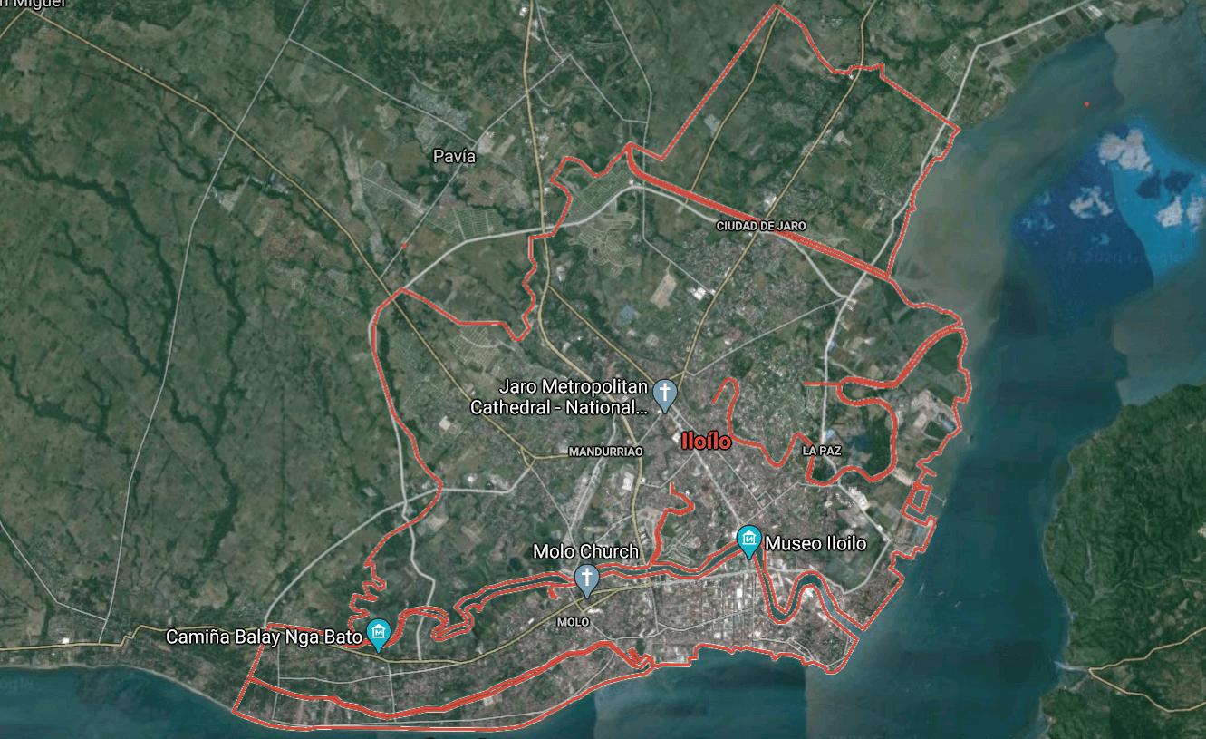Mapa turístico de Iloílo