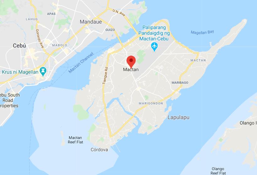 Dónde está Isla de Mactán, Filipinas