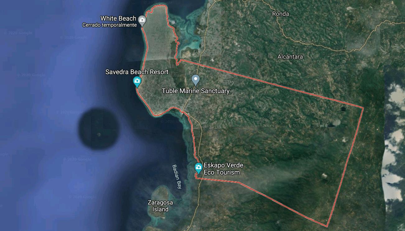 Mapa turístico de Moalboal