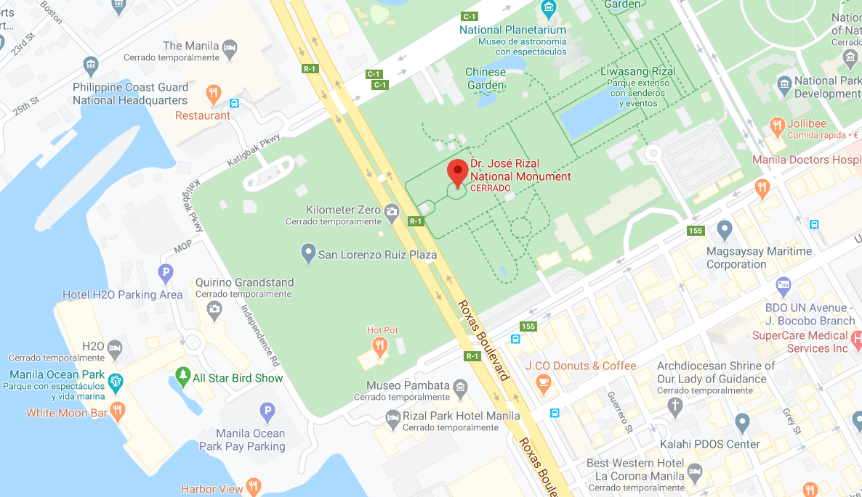 Dónde está Monumento a José Rizal, Filipinas