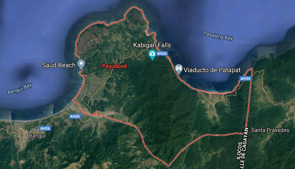 Mapa turístico de Pagudpud