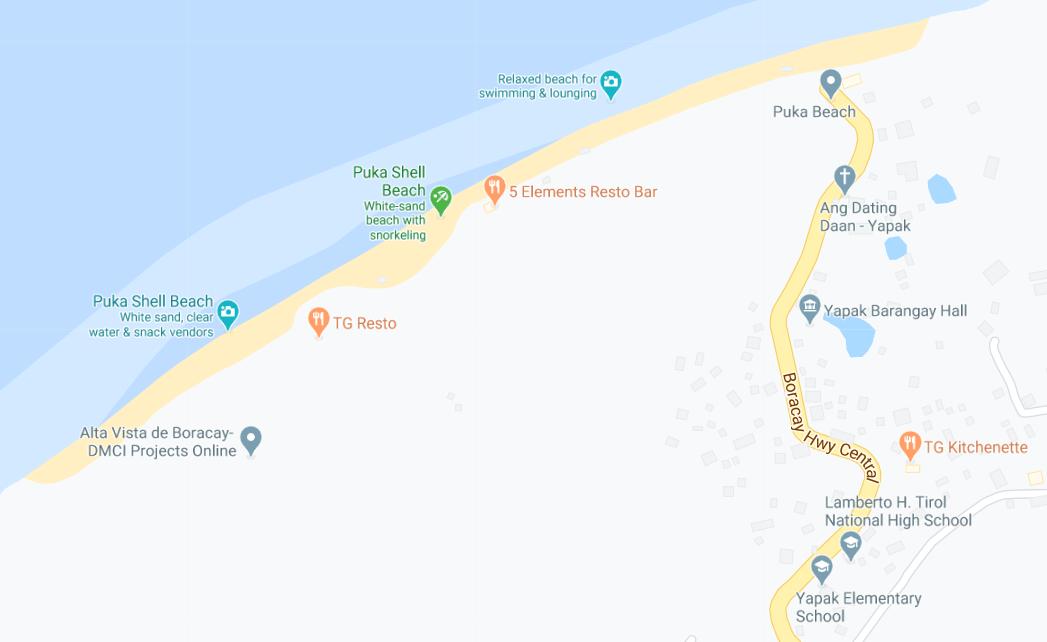 Dónde está Puka Shell Beach, Filipinas