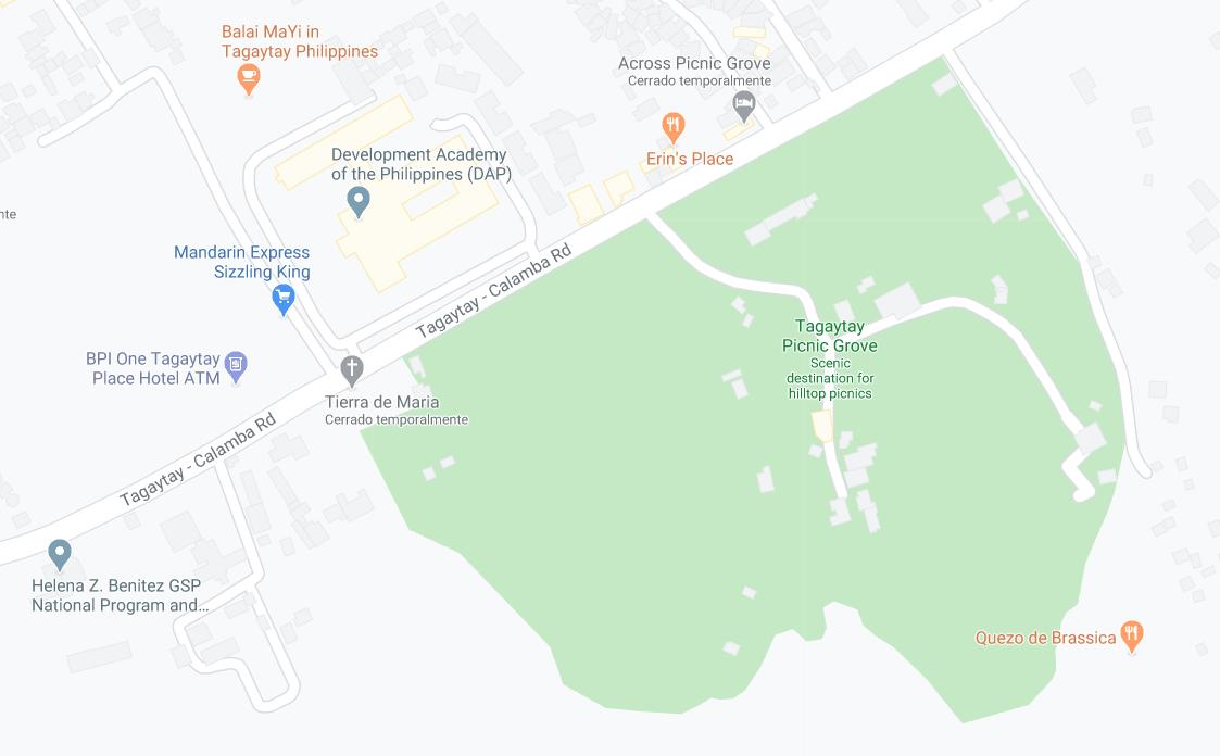 Dónde está Tagaytay Picnic Grove, Filipinas