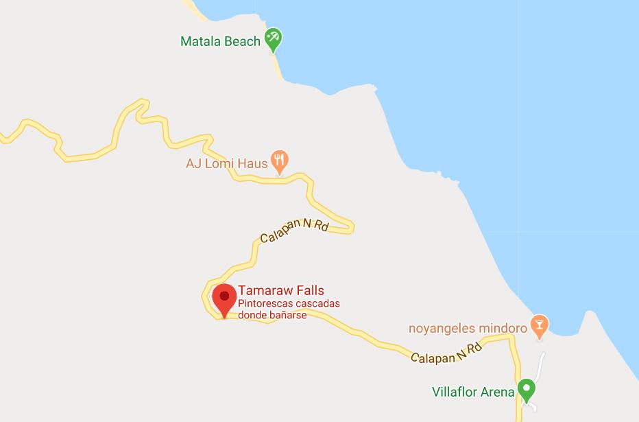 Dónde está Tamaraw Falls, Filipinas