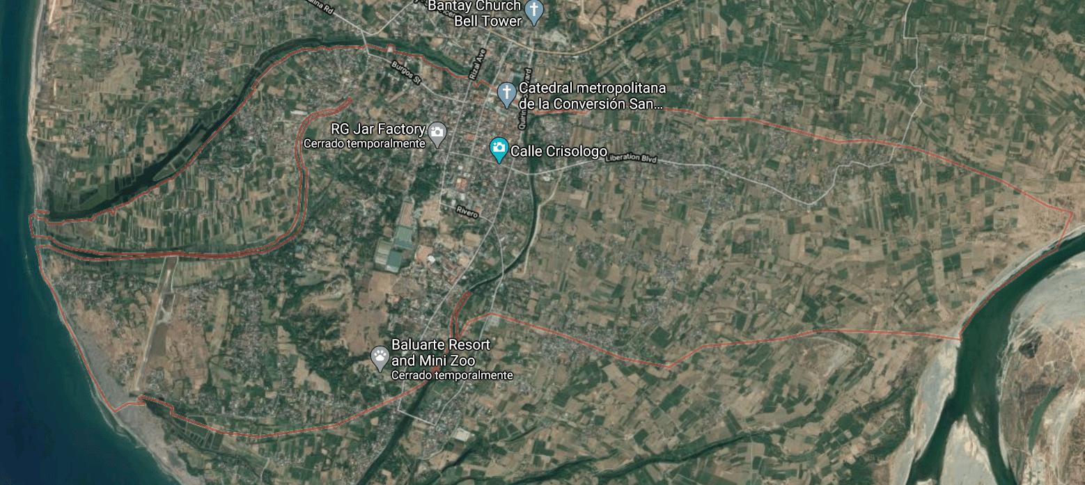 Mapa turístico de Vigan