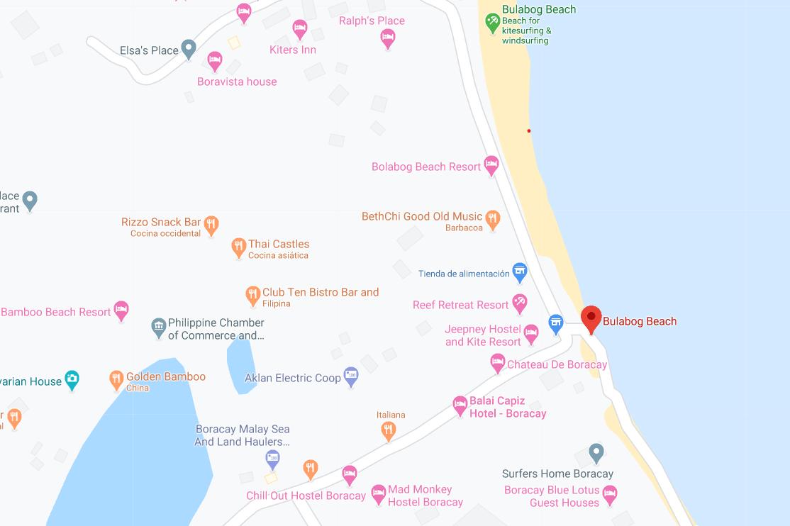 Dónde está Bulabog Beach, Filipinas