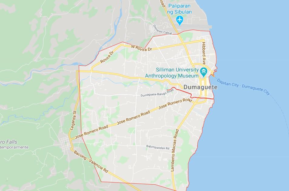 Dónde está Dumaguete, Filipinas