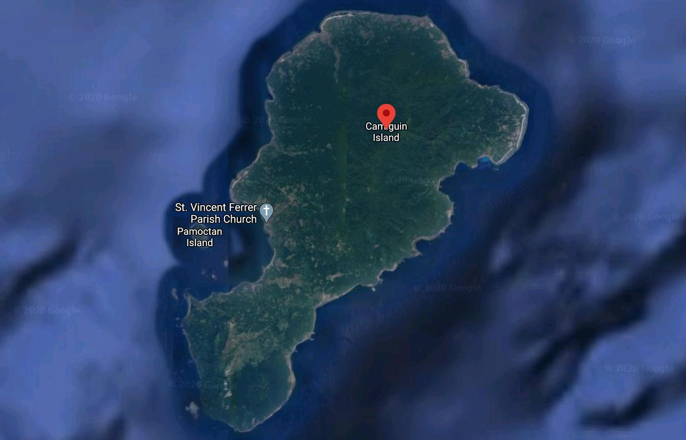 Mapa turístico de Camiguín