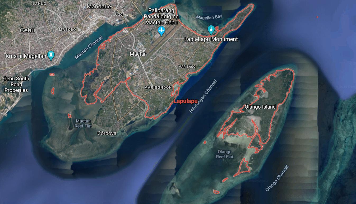 Mapa turístico de lapu lapu