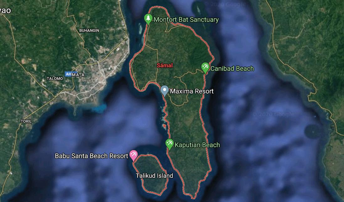 Mapa turístico de Sámal