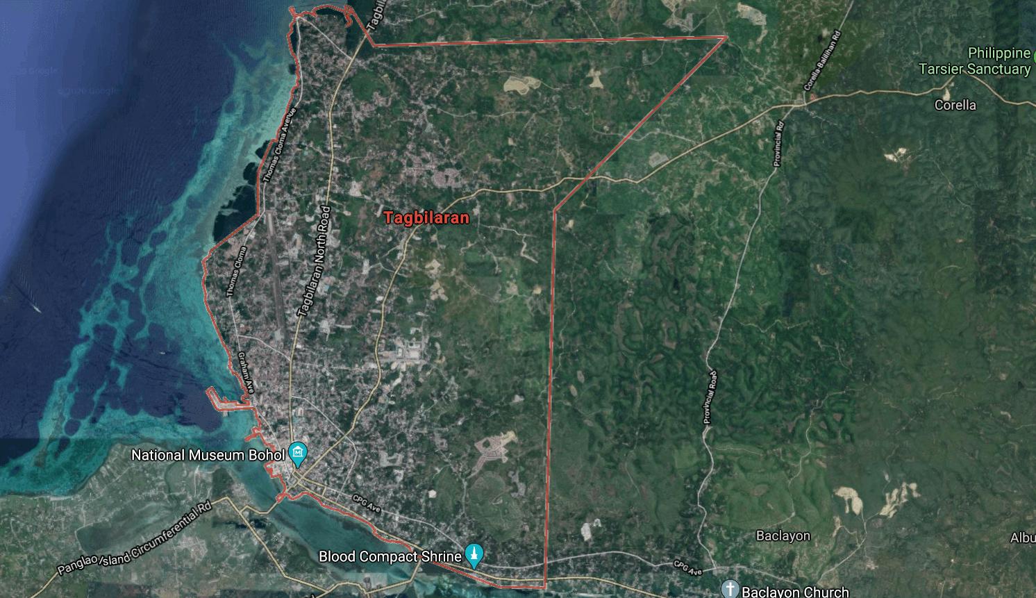 Mapa turístico de Tagbilaran