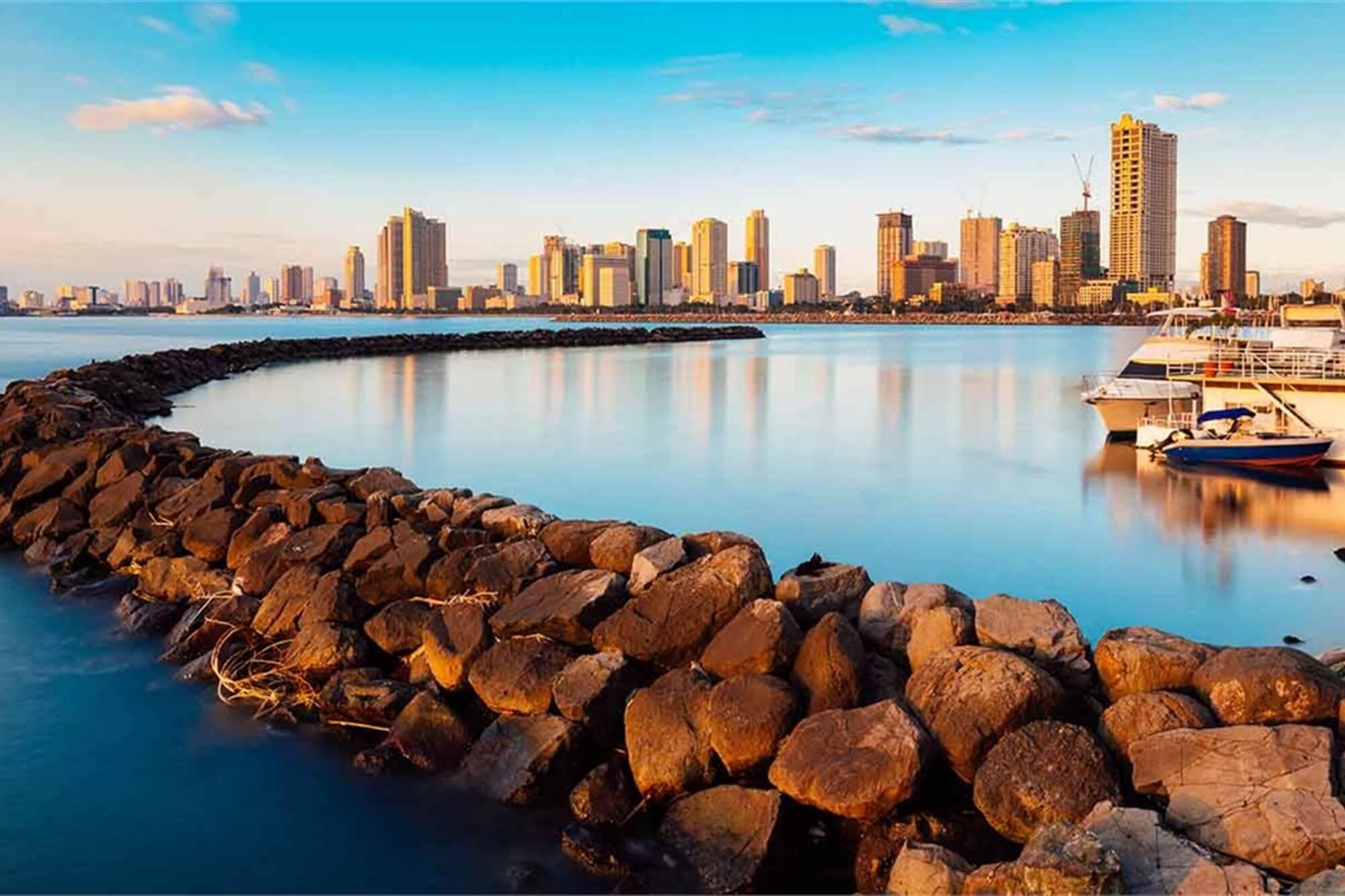 Bahía de Manila en Filipinas