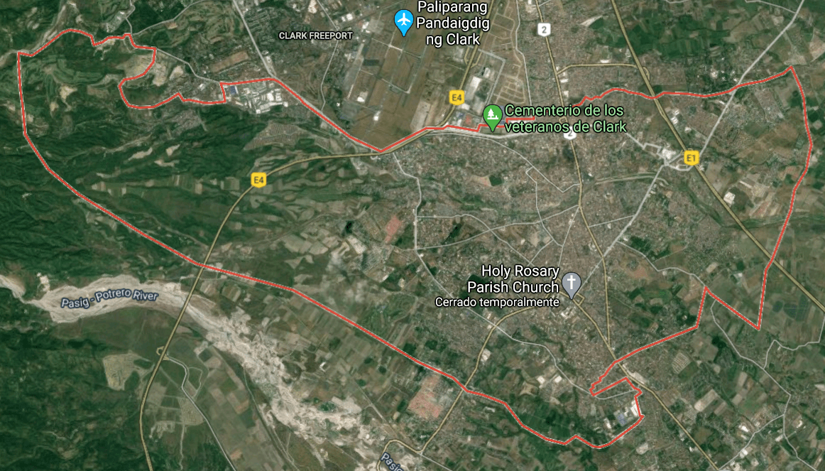 Mapa turístico de Ángeles