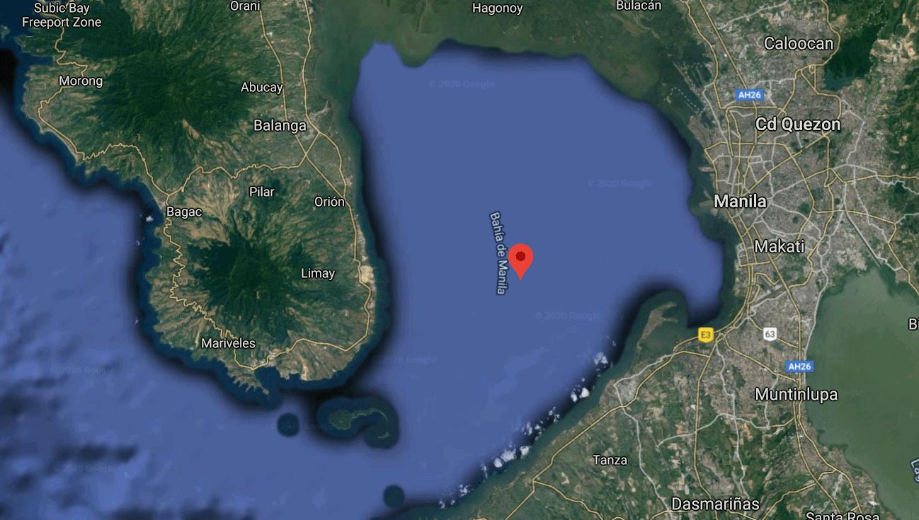 Mapa turístico de la Bahía de Manila