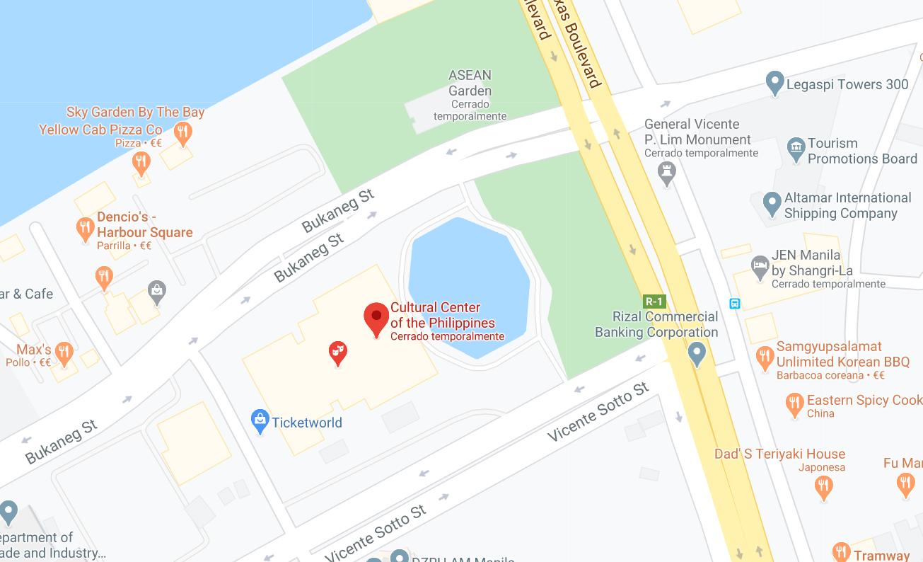 Dónde está Centro Cultural de Filipinas, Filipinas